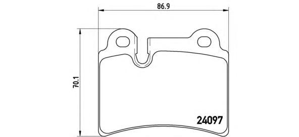 P85111 Колодки тормозные дисковые задн, VW: TOUAREG 3.0 TDI/3.0 V6 TDI/3.2 V6/3.6 V6 FSI/4.2 V8/4.2 V8 FSI/5.0 R50 TDI/5.0 V10 T