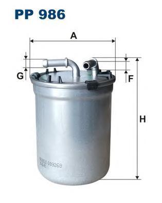 PP986 Фильтр топливный SKODA FABIA 1.4 TDI 05-