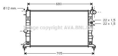 OLA2244 Радиатор OPEL VECTRA B 1.6-2.2/2.2DT 95-04