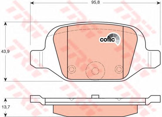 GDB1384 Колодки тормозные FIAT 500 07-/PANDA 03- задние
