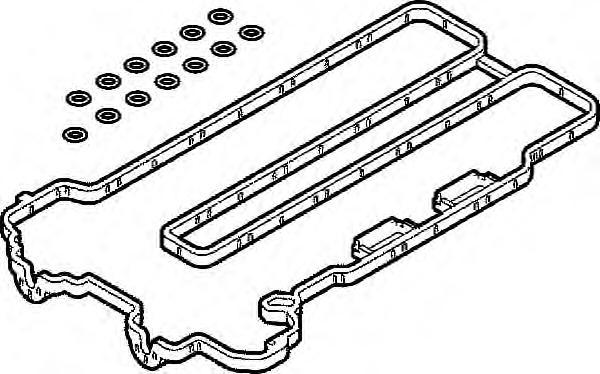 392490 Прокладка клапанной крышки OPEL ASTRA/CORSA 1.2/1.4 Z12XE/Z14XEP 00- компл.