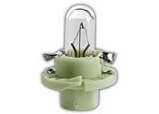 17054 Лампа накаливания 10шт в упаковке 12V 2W BX8,4D LIGHT GREEN (светло-зелёная)