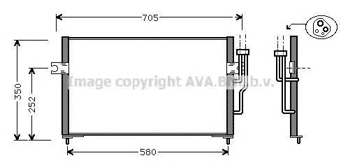 MT5100 Радиатор кондиционера MITSUBISHI: CARISMA (DA_) 1.6/1.8/1.8 16V/1.8 16V GDI/1.8 GDI 95 - 06 , CARISMA седан (DA_) 1.6/1.8