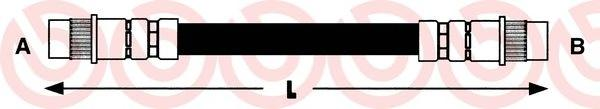 T68035 Шланг тормозной RENAULT MEGANE 96-03/SCENIC 99-03 зад.