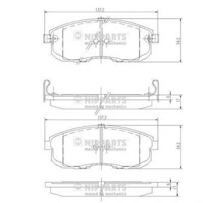 J3601044 Колодки тормозные NISSAN JUKE/MAXIMA/TEANA/TIIDA/SUZUKI SX4 перед. с инд.износа
