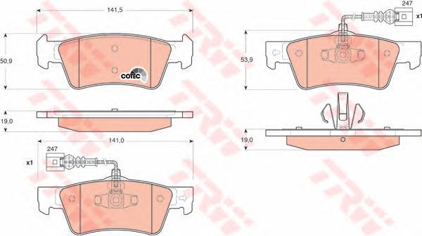 GDB1672 Колодки тормозные VOLKSWAGEN TOUAREG 02-10 задние с датч.