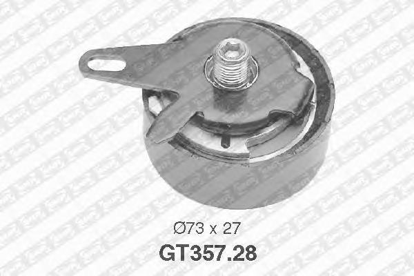 GT35728 pолик натяжной pемня ГPМ! Audi A4-A8, V