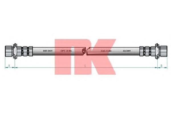 8545122 Шланг тормозной CHEVROLET LACETTI 05-/DAEWOO NUBIRA 03- задний левый