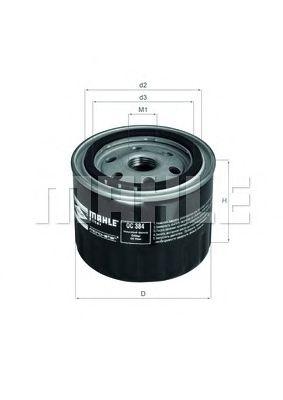 OC384 Фильтр масляный LADA 08-112/FORD SIERRA/SCORPIO 2.0-2.9 83-94