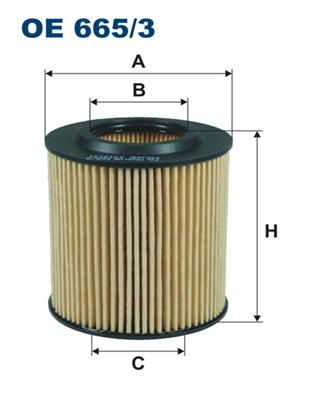 OE6653 Фильтр масляный FORD RANGER/MAZDA BT-50 2.2D-3.2D 11-