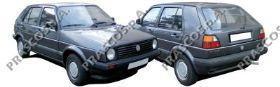 VW0281000 Бампер передний-черный / VW Golf-II,Jetta-II 83~89