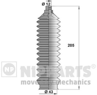 J2843008 Пыльник рулевой рейки MAZDA II/ DEMIO 08-