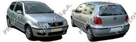 VW0207414 Кожух зеркала левый, грунтованный / Seat, VW Golf IV, Bora, Passat, Polo, Skoda Superb 97~