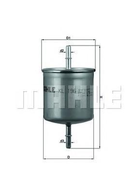 KL196 Фильтр топливный VOLVO S40/S60/S80/XC90 1.6-4.4 95-