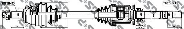 217019 Привод в сборе FIAT DOBLO 1.3D-1.9JTD 01- прав.