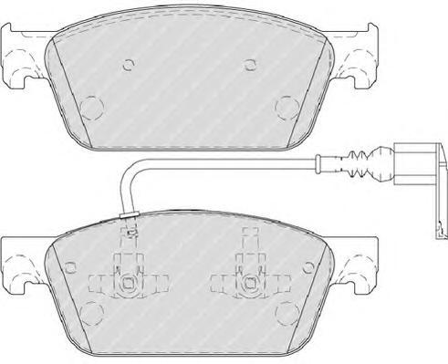 FVR4302 Колодки тормозные VW MULTIVAN V/TRANSPORTER V (2E4) 09- передние с датч.