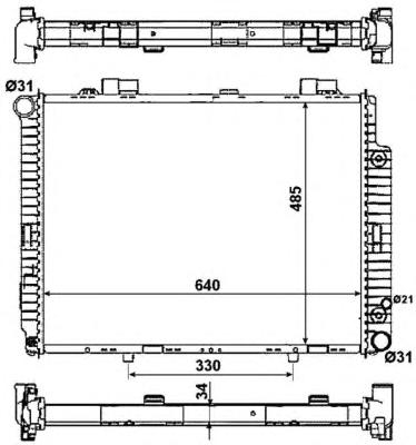 58159 Радиатор MB E-Class (W210) АКПП