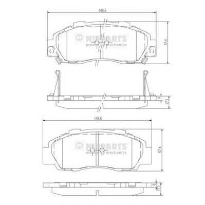 J3604032 Колодки тормозные HONDA FR-V 1.7-2.2 05-/LEGEND 96-/STREAM 1.7/2.0 01- передние