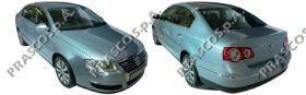 VW0541274 Молдинг заднего бампера левый хромированный / VW Passat B6 06~11