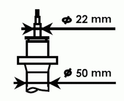 324703 Амортизатор AUDI A3/GOLF V/TOURAN/SKODA OCTAVIA 03- пер.газ.(D=50mm)Gas-A-Just