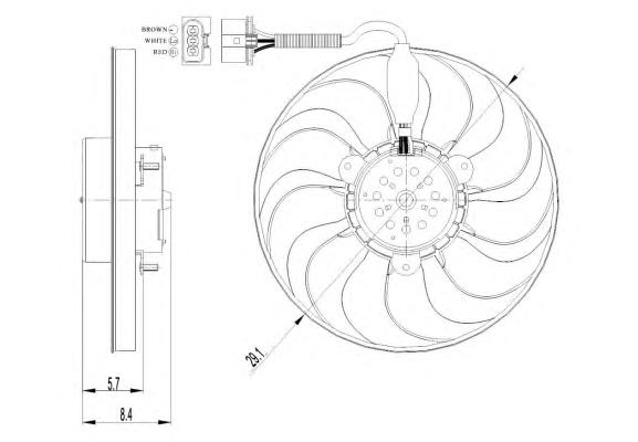 47398 Вентилятор VAG A3, Octavia (9 лоп.)