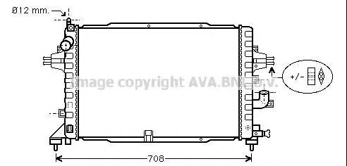 OLA2383 Радиатор OPEL ASTRA H 1.9 CDTi 04-