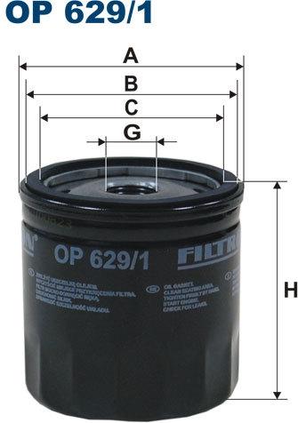 OP6291 Фильтр масляный VOLVO C30/V40/FORD FIESTA/FOCUS/MONDEO/GALAXY/MAZDA 2 03-