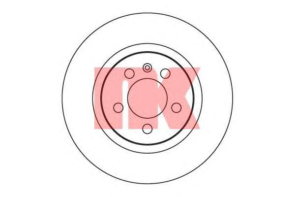204735 Диск тормозной VW GOLF III/PASSAT/VENTO 91-99 передний вент.D=280мм.