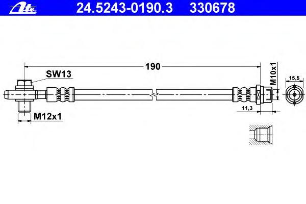 24524301903 Тормозной шланг