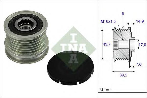 535001510 Шкив генератора MERCEDES-BENZ: VITO 108/110 2.2CDI 03/99-, C-Class W202 2.0CDI/2.2CDI 97-01
