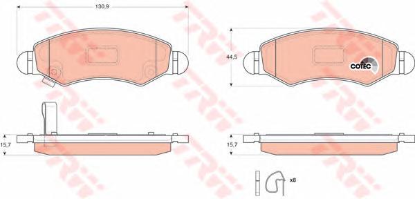 GDB3363 Колодки тормозные OPEL AGILA 00-/SUZUKI IGNIS 03- передние