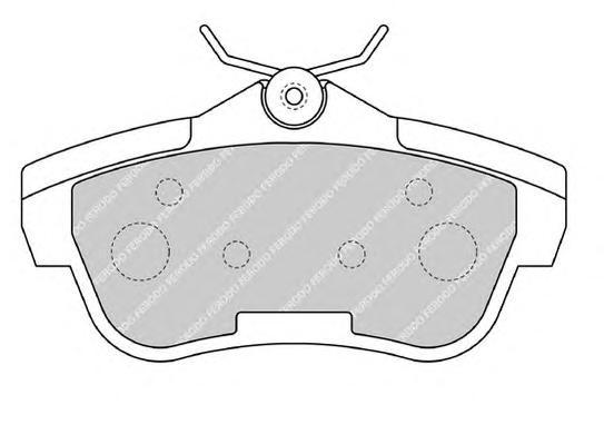 FVR1772 Колодки тормозные CITROEN JUMPY/FIAT SCUDO/PEUGEOT EXPERT 07- задние