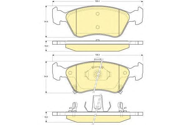 6131632 Колодки тормозные TOYOTA AVENSIS 97-03 передние