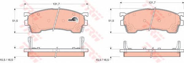 GDB1139 Колодки тормозные дисковые передн FORD USA: PROBE II 93-98,  MAZDA: 626 IV 92-97, 626 IV Hatchback 91-97, MX-6 92-, XEDO
