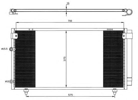 35518 Конденсер TO Avensis Verso 01-