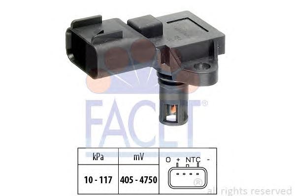 103097 Датчик давления воздуха FORD: FIESTA V (JH_, JD_) 1.25 16V/1.3/1.4 16V/1.6 16V 01-, FIESTA VI 1.4/1.6 08-, FIESTA Van 1.3