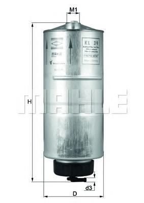 KL39 Фильтр топливный AUDI 80 1.6D 86-91