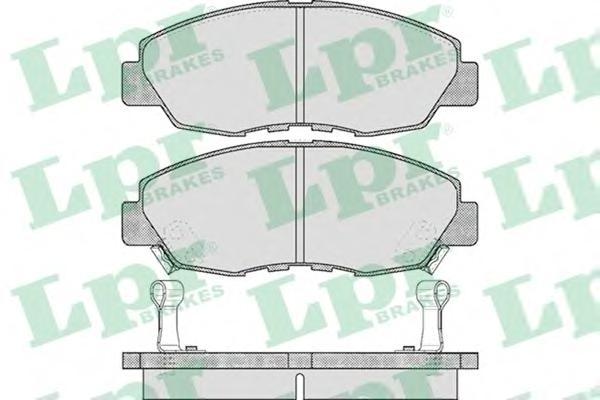 05P566 Колодки тормозные HONDA ACCORD 2.0-2.2 90-93 передние