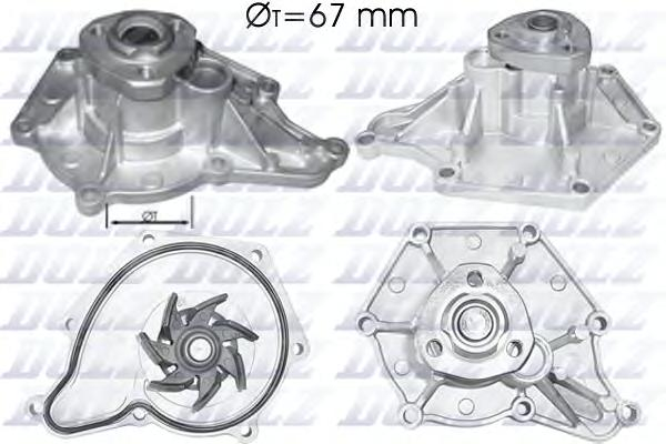 A213 Насос водяной Audi A6/A8 2.7TDI-3.0TDI  3.2FSI  04