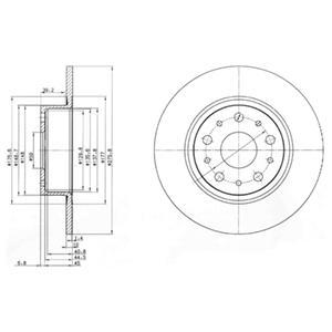 BG3076 Диск тормозной ALFA ROMEO 166 98- задний D=276мм.