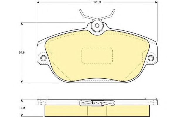 6108371 Колодки тормозные VOLVO 740-960 передние
