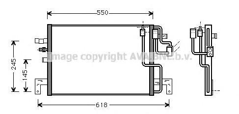 SB5048 Конденсер SAAB 9-3 2.0/2.3/2.2TD 98-04