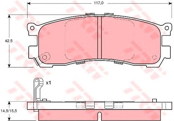 GDB3179 Колодки тормозные MAZDA 626 87-97/929 87-91/XEDOS 9/MPV 95-99 задние
