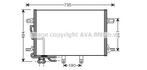 MSA5307 Конденсер MB W211 D 02-
