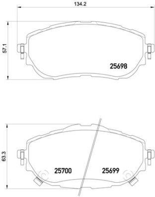 P83150 Колодки тормозные TOYOTA AURIS 12-/COROLLA 13- передние