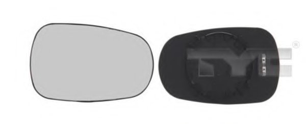 PMG0801G02 Стекло зеркала прав/лев с подогр  выпукл DACIA: LOGAN - (2004-08
