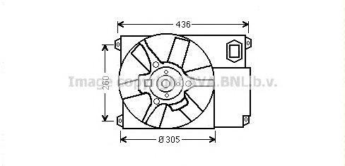 CN7541 Вентилятор радиатора PEUGEOT BOXER/FIAT DUCATO/CITROEN JUMPER 02-
