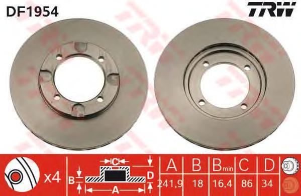 df1954 Тормозной диск