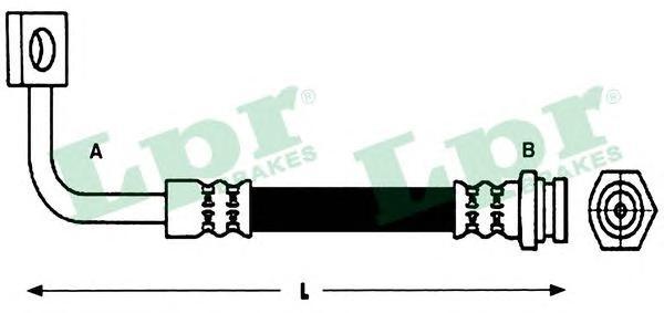 6T48189 Шланг тормозной KIA CARNIVAL 99- передний правый