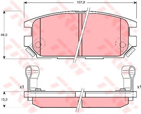 GDB3199 Колодки тормозные MITSUBISHI GALANT 92-96/LANCER 94-03/SPACE WAGON 98- задние